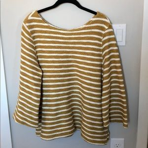 Striped Sweater Blouse